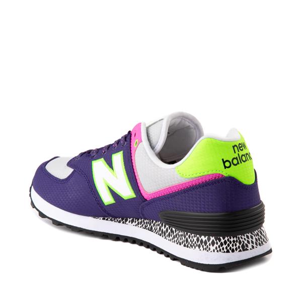 alternate view Womens New Balance 574 Athletic Shoe - Purple / Neon MulticolorALT1