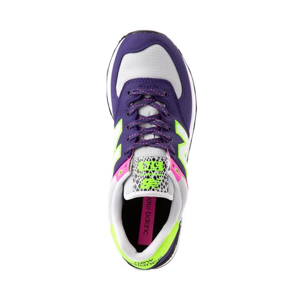 alternate view Womens New Balance 574 Athletic Shoe - Purple / Neon MulticolorALT2