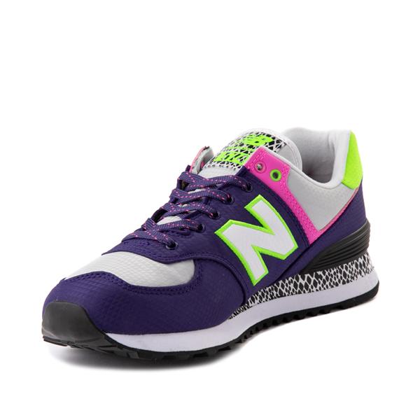 alternate view Womens New Balance 574 Athletic Shoe - Purple / Neon MulticolorALT3