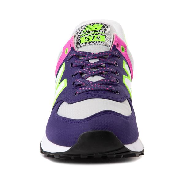 alternate view Womens New Balance 574 Athletic Shoe - Purple / Neon MulticolorALT4