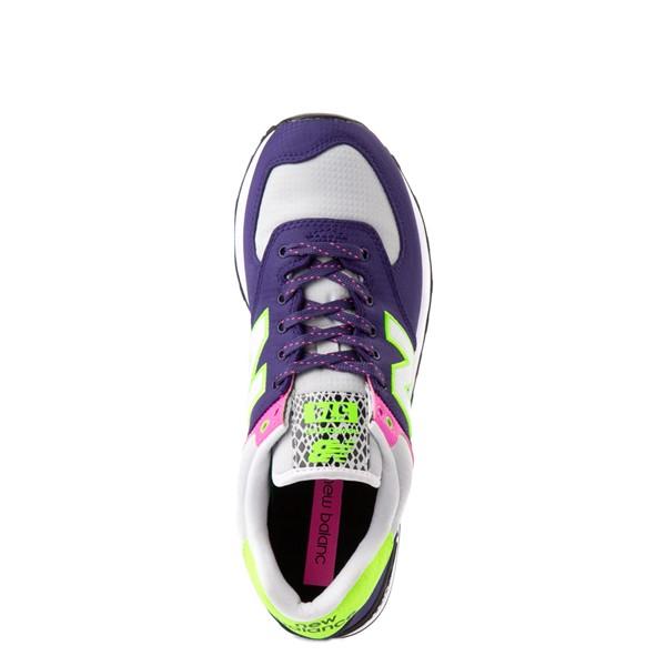 alternate view Womens New Balance 574 Athletic Shoe - Purple / Neon MulticolorALT4B