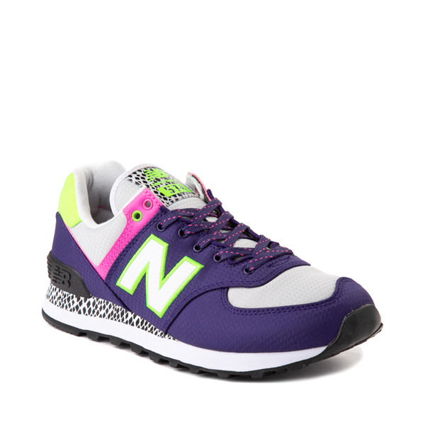 alternate view Womens New Balance 574 Athletic Shoe - Purple / Neon MulticolorALT5