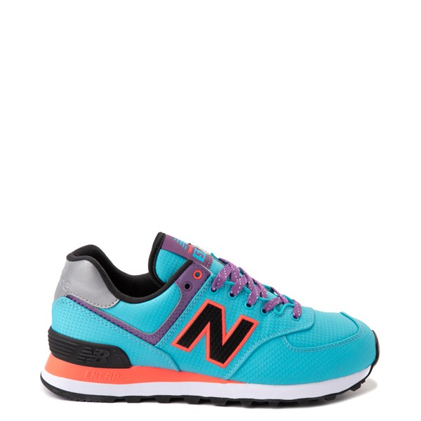 Main view of Womens New Balance 574 Athletic Shoe - Blue / Pink / Purple