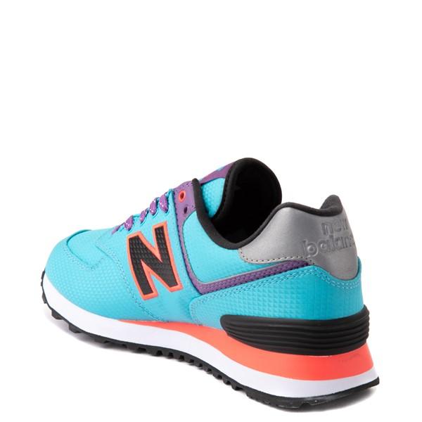 alternate view Womens New Balance 574 Athletic Shoe - Blue / Pink / PurpleALT1B