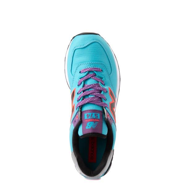 alternate view Womens New Balance 574 Athletic Shoe - Blue / Pink / PurpleALT2
