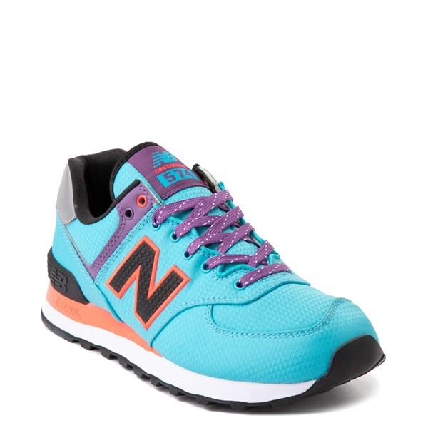 alternate view Womens New Balance 574 Athletic Shoe - Blue / Pink / PurpleALT5