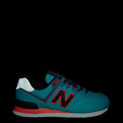 Alternate view of Womens New Balance 574 Athletic Shoe - Blue / Pink / Purple