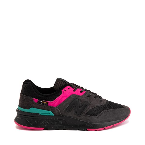 Main view of Womens New Balance 997H Athletic Shoe - Black / Pink