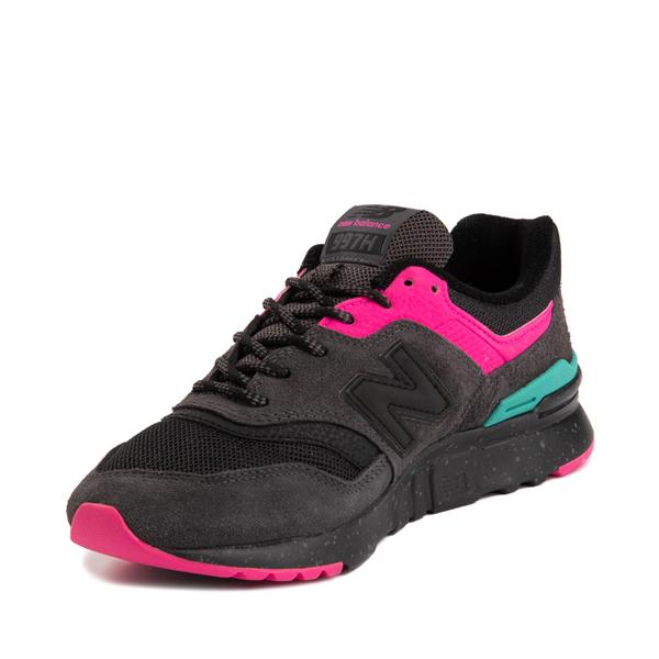 alternate view Womens New Balance 997H Athletic Shoe - Black / PinkALT3