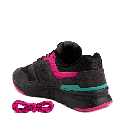 Alternate view of Womens New Balance 997H Athletic Shoe - Black / Pink