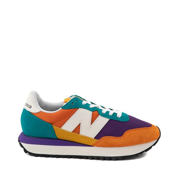Main view of Womens New Balance 237 Athletic Shoe - Orange / Purple / Teal