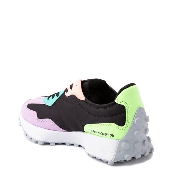 alternate view Womens New Balance 327 Athletic Shoe - Black / MulticolorALT1