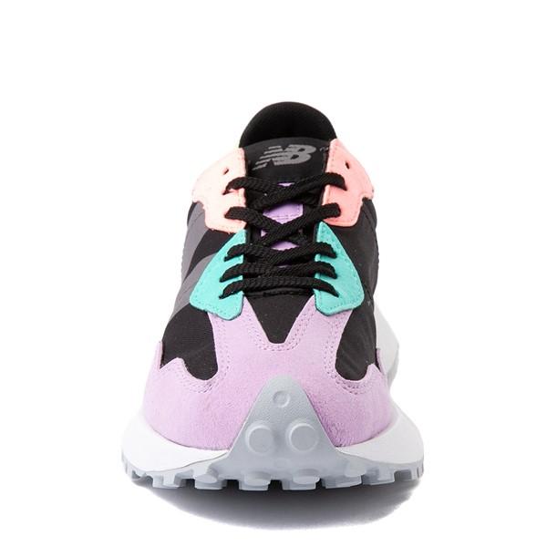 alternate view Womens New Balance 327 Athletic Shoe - Black / MulticolorALT4