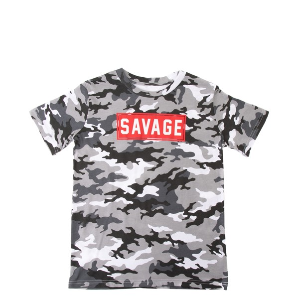 Savage Tee - Little Kid / Big Kid - Gray Camo