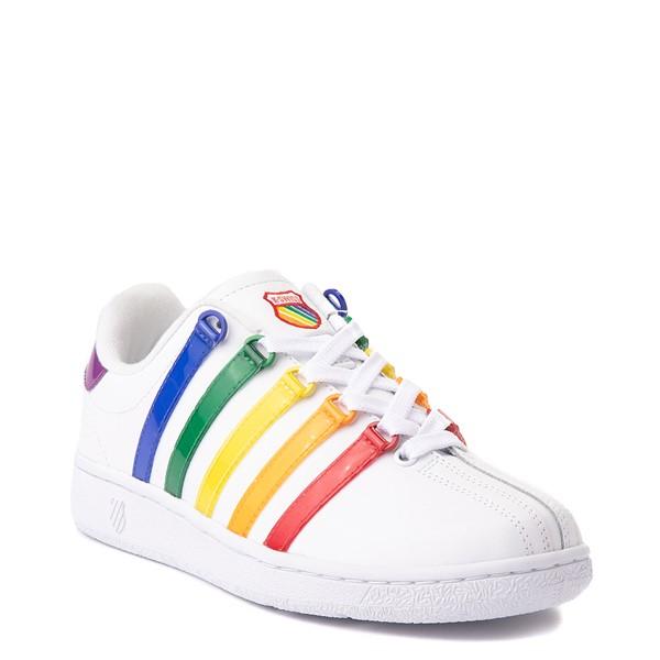 alternate view Womens K-Swiss Classic VN Heritage Athletic Shoe - White / RainbowALT5