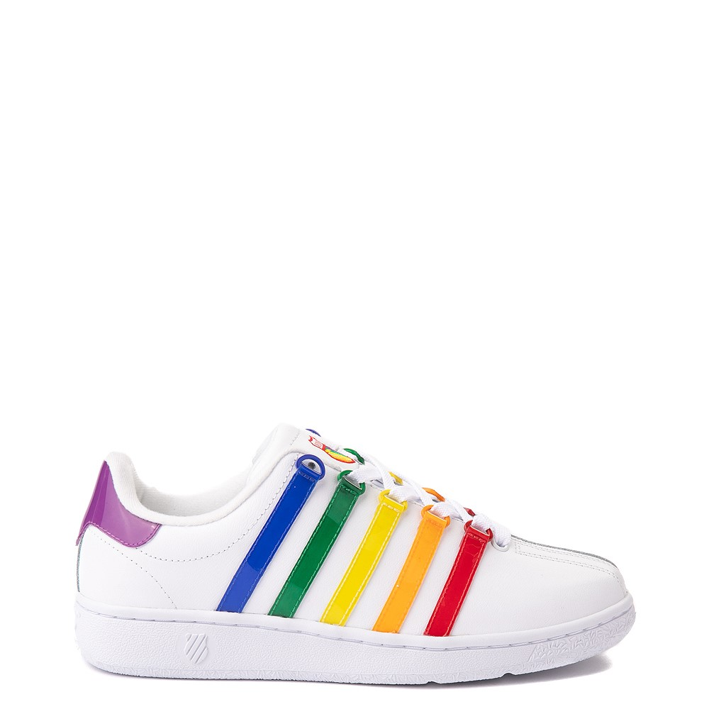 Womens K-Swiss Classic VN Heritage Athletic Shoe - White / Rainbow