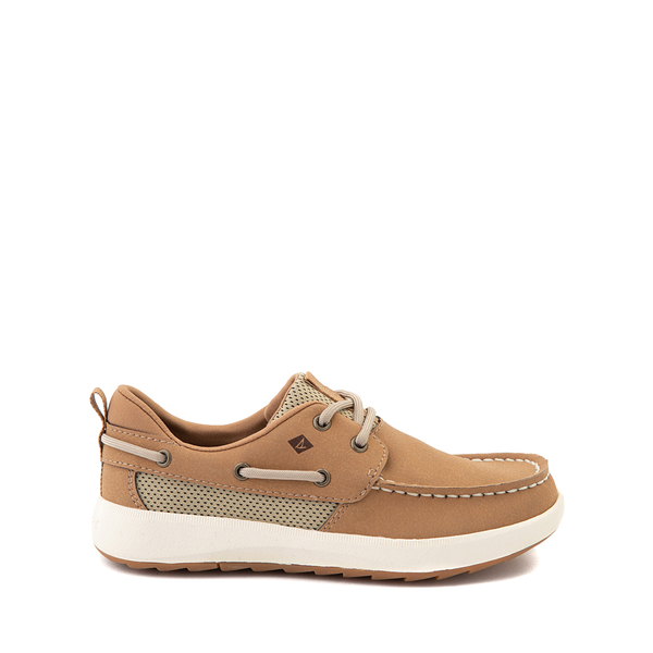 Main view of Sperry Top-Sider Fairwater PlushWave Boat Shoe - Little Kid / Big Kid - Tan