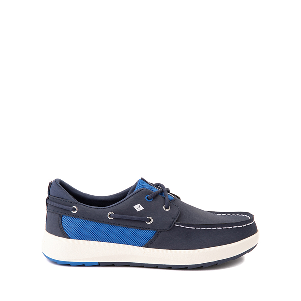 Main view of Sperry Top-Sider Fairwater PlushWave Boat Shoe - Little Kid / Big Kid - Navy