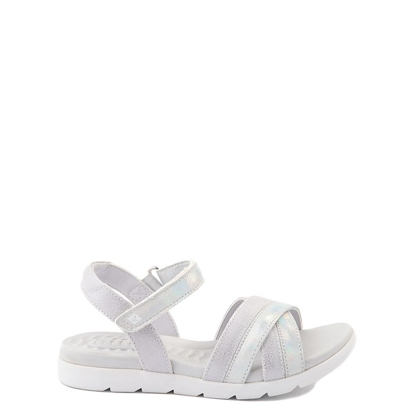 Main view of Sperry Top-Sider Leeway PlushWave Sandal - Little Kid / Big Kid - Silver