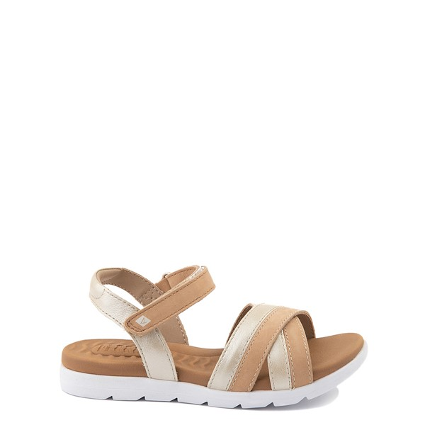 Main view of Sperry Top-Sider Leeway PlushWave Sandal - Little Kid / Big Kid - Gold