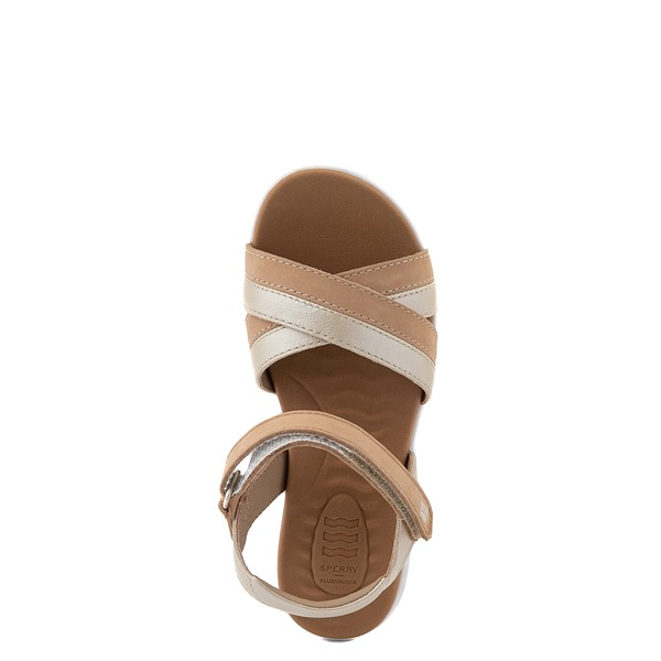 alternate view Sperry Top-Sider Leeway PlushWave Sandal - Little Kid / Big Kid - GoldALT4B