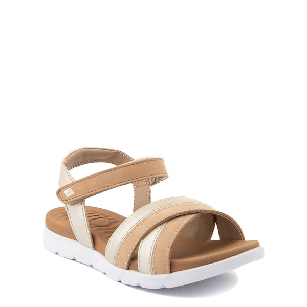 alternate view Sperry Top-Sider Leeway PlushWave Sandal - Little Kid / Big Kid - GoldALT5