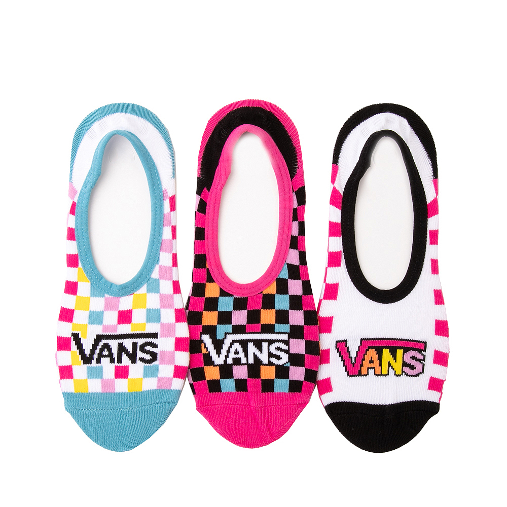 Womens Vans Zoo Check Canoodle Liners 3 Pack - Multicolor