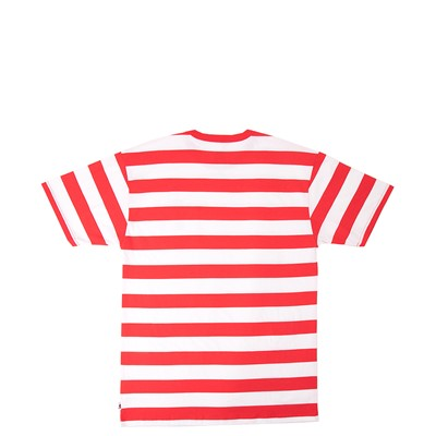 Alternate view of Mens Vans x Where's Waldo Stripe Tee - Racing Red