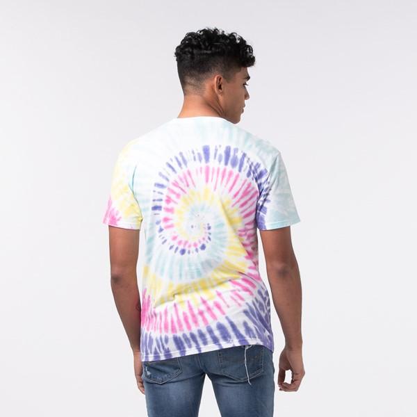 alternate view Mens Vans Drop V Spiral Tie Dye Tee - White / RainbowALT1-2