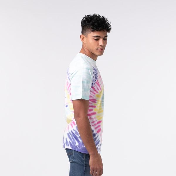 alternate view Mens Vans Drop V Spiral Tie Dye Tee - White / RainbowALT2