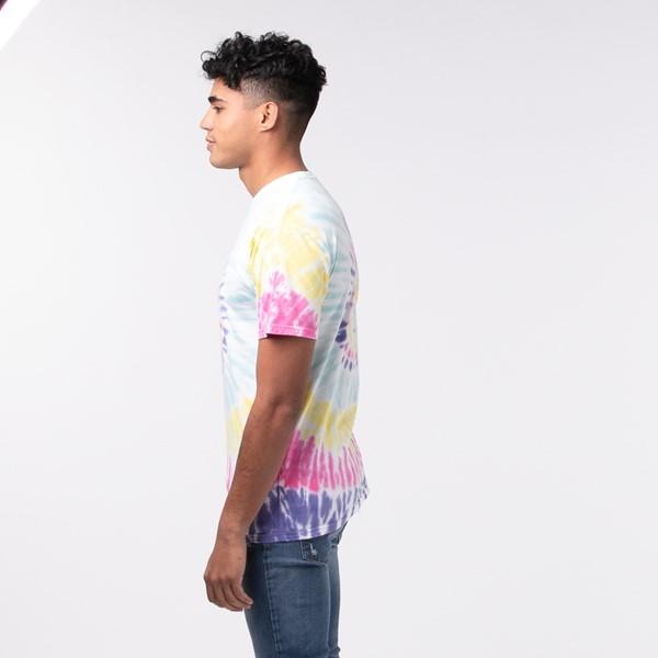 alternate view Mens Vans Drop V Spiral Tie Dye Tee - White / RainbowALT3