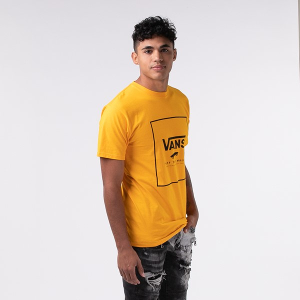 alternate view Mens Vans Box Logo Tee - SaffronALT2