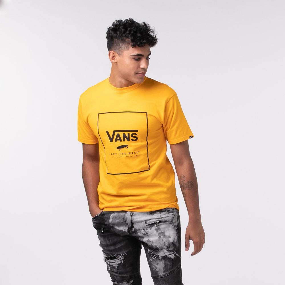 Mens Vans Box Logo Tee - Saffron