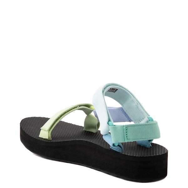 alternate view Womens Teva Universal Midform Sandal - Light Green / MulticolorALT1
