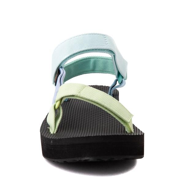 alternate view Womens Teva Universal Midform Sandal - Light Green / MulticolorALT4