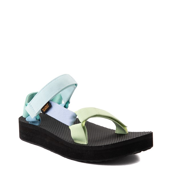 alternate view Womens Teva Universal Midform Sandal - Light Green / MulticolorALT5