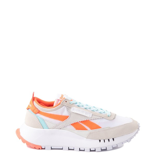 Main view of Womens Reebok Classic Legacy Athletic Shoe - White / Orange / Blue