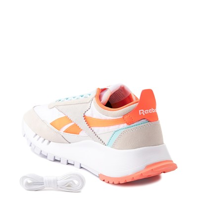 Alternate view of Womens Reebok Classic Legacy Athletic Shoe - White / Orange / Blue
