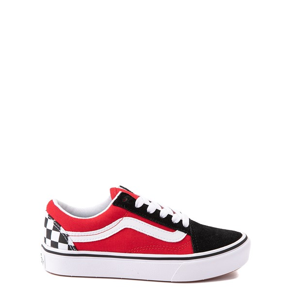 Vans Old Skool ComfyCush® Checkerboard Skate Shoe - Little Kid - Red / Black / White