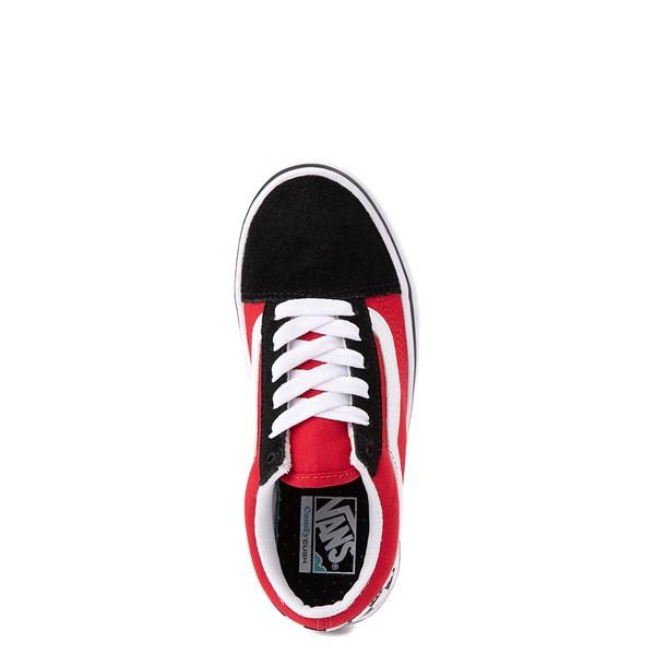 alternate view Vans Old Skool ComfyCush® Checkerboard Skate Shoe - Little Kid - Red / Black / WhiteALT2