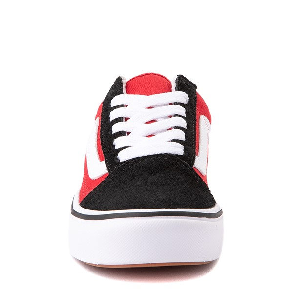 alternate view Vans Old Skool ComfyCush® Checkerboard Skate Shoe - Little Kid - Red / Black / WhiteALT4