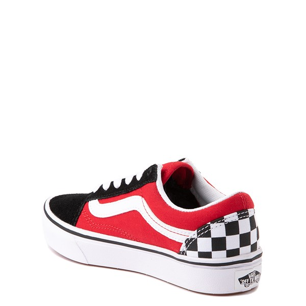 alternate view Vans Old Skool ComfyCush® Checkerboard Skate Shoe - Big Kid - Red / Black / WhiteALT1