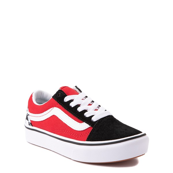 alternate view Vans Old Skool ComfyCush® Checkerboard Skate Shoe - Big Kid - Red / Black / WhiteALT5