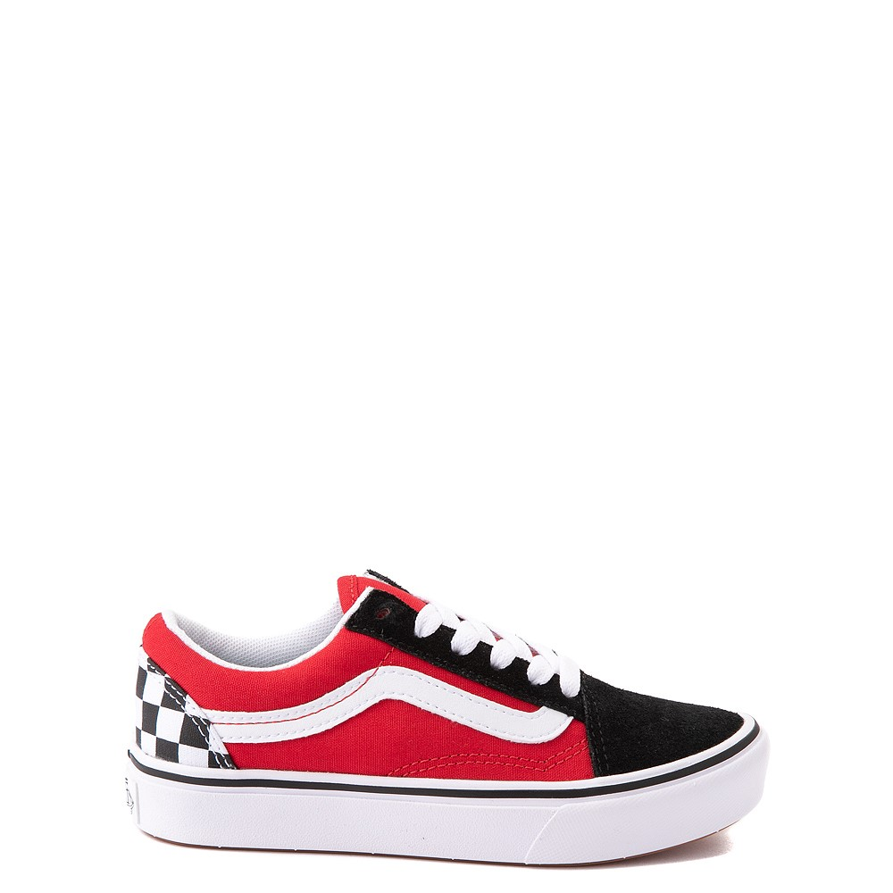 Vans Old Skool ComfyCush® Checkerboard Skate Shoe - Big Kid - Red / Black / White