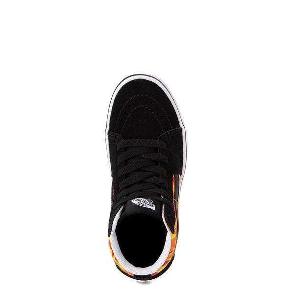 alternate view Vans Sk8 Hi ComfyCush® Skate Shoe - Little Kid - Black / Flame CamoALT2