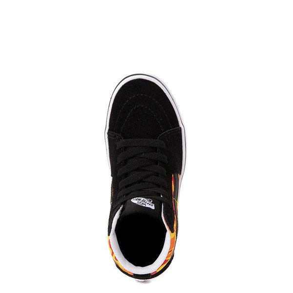 alternate view Vans Sk8 Hi ComfyCush® Skate Shoe - Little Kid - Black / Flame CamoALT4B