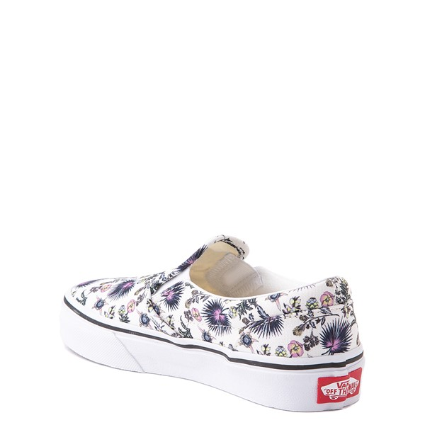 alternate view Vans Slip On Skate Shoe - Little Kid - White / Paradise FloralALT1