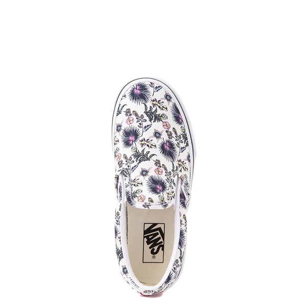 alternate view Vans Slip On Skate Shoe - Little Kid - White / Paradise FloralALT4B
