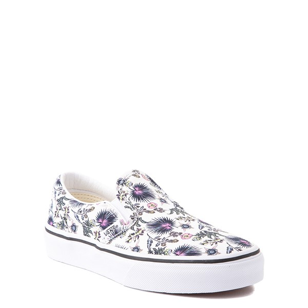 alternate view Vans Slip On Skate Shoe - Little Kid - White / Paradise FloralALT5