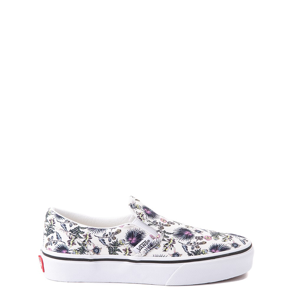 Vans Slip On Skate Shoe - Little Kid - White / Paradise Floral